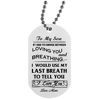 Amazoncom To My Son Necklace Jewelry From Mom Custom Funny Quotes