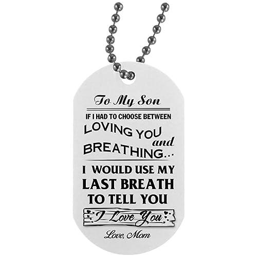 Amazon.com: To my son necklace jewelry from Mom- Custom ...