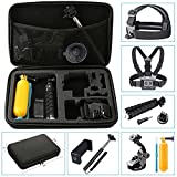 NavTour Outdoor Sports Camera Accessories Kits for Gopro Hero 6 5 4 3+ 3 2 1 SJ4000 SJ5000 SJ6000 - Lightdow LD6000 LD4000 - DBPower EX5000 with Carrying Case Chest Strap Octopus Tripod