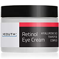 Retinol Eye Cream Moisturizer 2.5% from YEOUTH Boosted w/Retinol, Hyaluronic Acid...