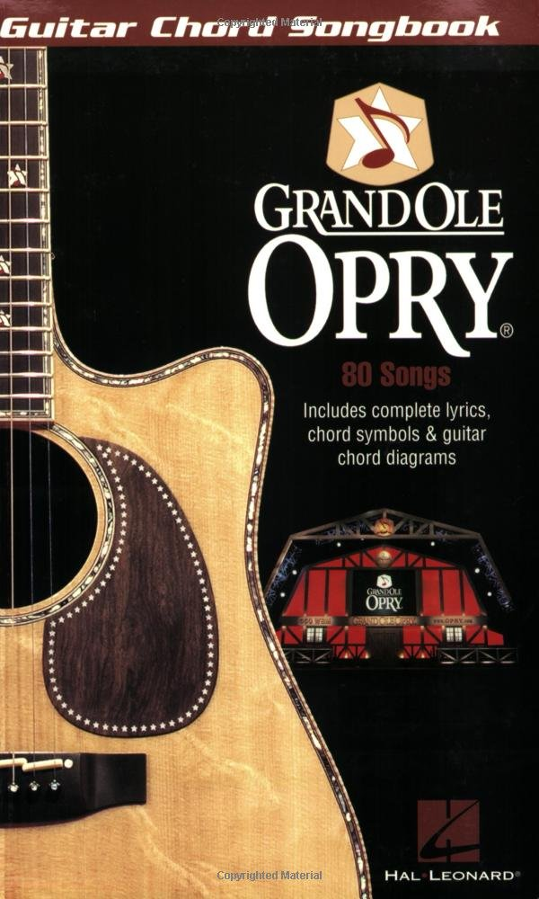 Amazon The Grand Ole Opry Guitar Chord Songbook 0884088105884