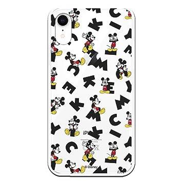 Carcasa Oficial de Disney Mickey Letras Clear para iPhone XR - La Casa de Las Carcasas