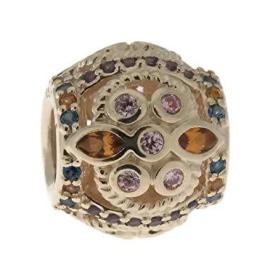 f83656a65 Amazon.com: PANDORA Color Fresco Charm, 14K Gold, Multi-Colored Crystals &  Pink CZ 756225PCZMX: Jewelry