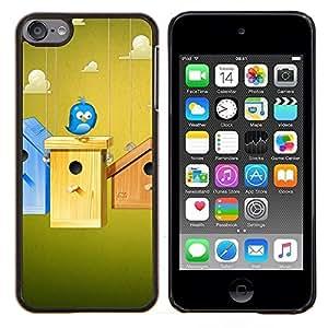 """Be-Star Único Patrón Plástico Duro Fundas Cover Cubre Hard Case Cover Para iPod Touch 6 ( Pájaro azul lindo"""" )"""