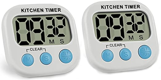2 Cronometro Cocina Temporizador Digital Multi Uso Para Cocinar Hornear Deportes