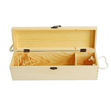 Amazon Com Wine Gift Box 1 Bottle Wood Engraved With Lid Handle