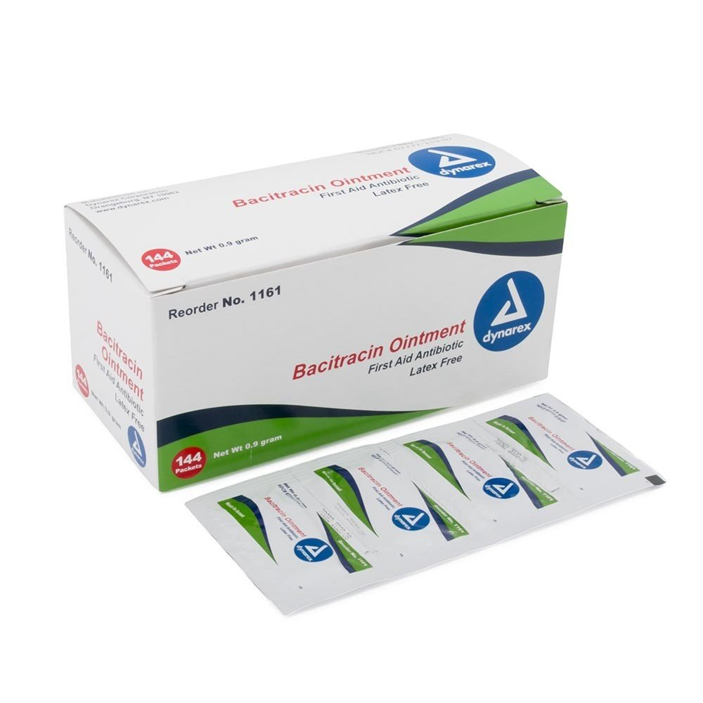 Safetec Antibiotic Ointment with Bacitracin - First Aid - 144 Foil Packs