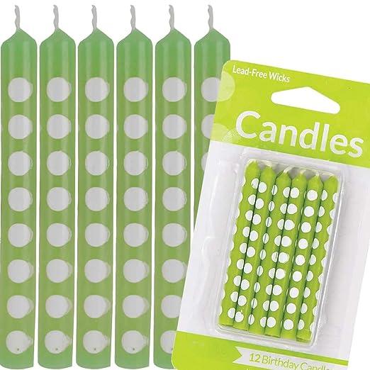 Carpeta 12 Velas Verdes con Lunares Blancos * Polka Dots ...
