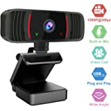 Webcam with Microphone for Desktop, Peteme 1080P HD Web Cameras for Computers with Plug and Play USB, Camera and Microphone f