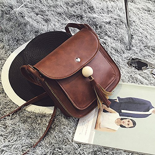TSLX-Messenger Schultertasche Handtasche Neue Dark brown