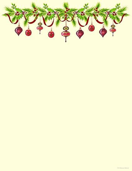 amazon com grandma s ornaments holiday letterhead paper