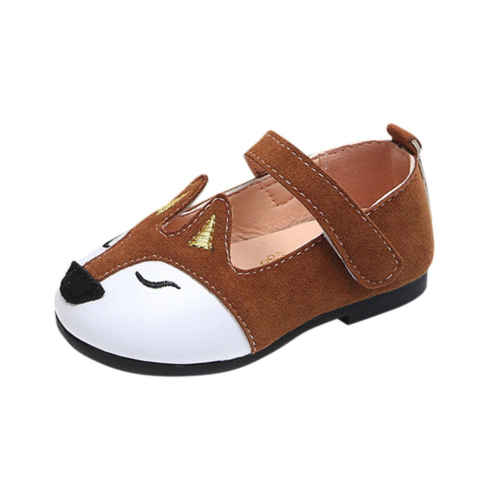 EDTO Baby Fashion Toddler Children Fox Ballerina Pricness Casual Flat Casual Shoes Sneakers