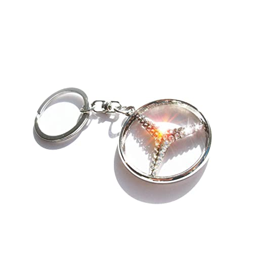 717d434fec4 Amazon.com: Bling keychain for Mercedes with Swarovski crystals: Handmade
