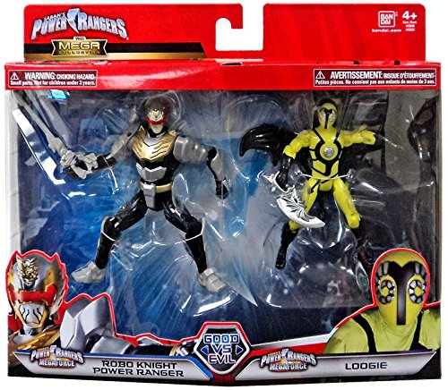 Power Rangers Super Megaforce Good Vs. Evil Robo Knight Power Ranger and Loogie Action Figure 2-Pack -