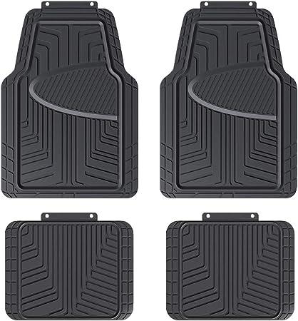 Amazon Basics 4 Stück Ganzjahres Bodenmatten Aus Gummi Für Pkw Suv Und Lkw Schwarz Auto