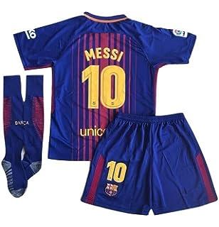10 Messi Barcelona Home Kids Or Youth Soccer Jersey   Shorts   Socks Set  2017- 74d8ef782