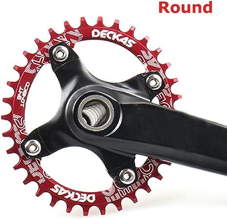 grofitness Plato Bicicleta de montaña,Rojo, 32T: Amazon.es ...
