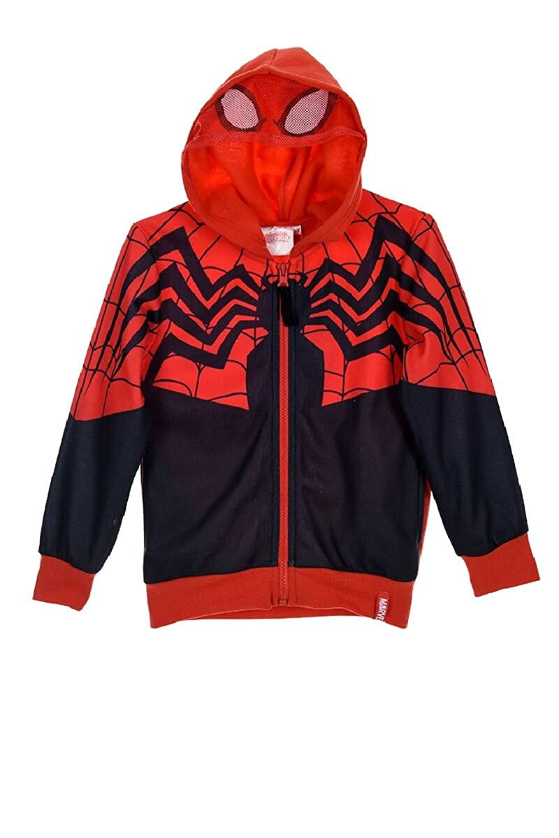Official Spiderman Marvel Boys Hoodie Hooded Zipped Jumper Sweatshirt 2-8 Years - New 2017/18 24462_118164