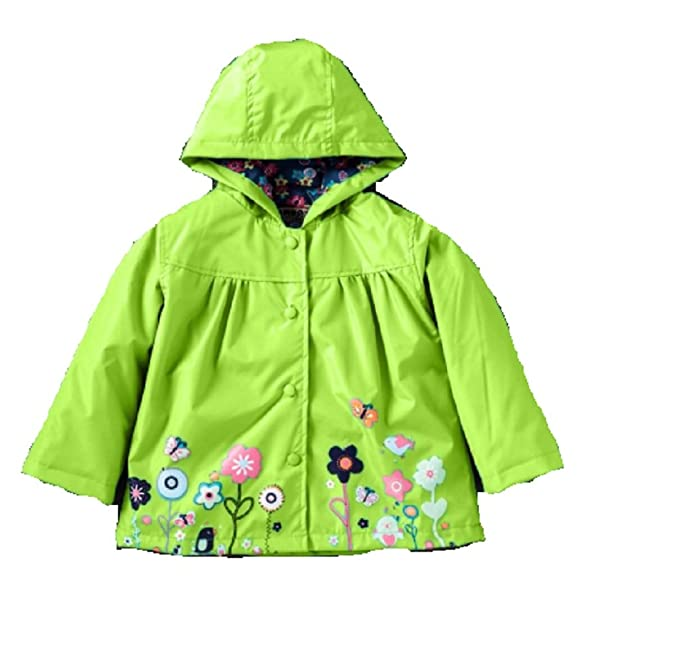 best value unique design uk store Koo-T Girls Rain Coat Jacket Summer Hood Windbreaker Spring Mac Raincoat  Age 1 to 6 Years Pink/Blue/Green/Purple/Red