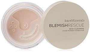 bareMinerals Escentuals Blemish Rescue Skin-clearing Loose Powder Foundation for Women, 3c Medium, 0.21 Oz