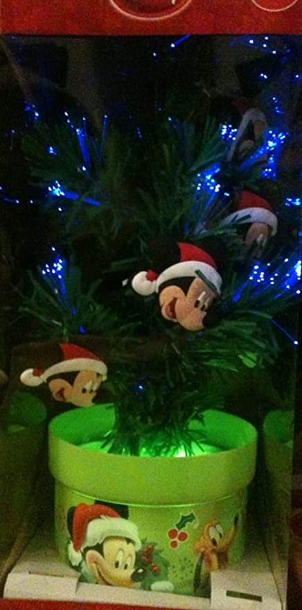 Mickey Mouse Christmas Tree Decorating Ideas.Disney Mickey Mouse 18 Fiber Optic Color Changing Christmas Tree