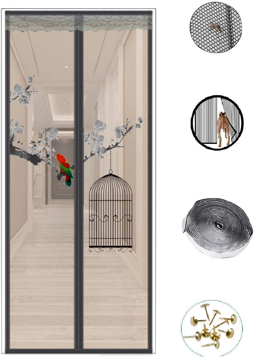 CFJKN Puerta mosquitera magnética para puertas francesas, cortina de malla reforzada con manos libres, mosquitera de malla magnética para puerta: Amazon.es: Bricolaje y herramientas