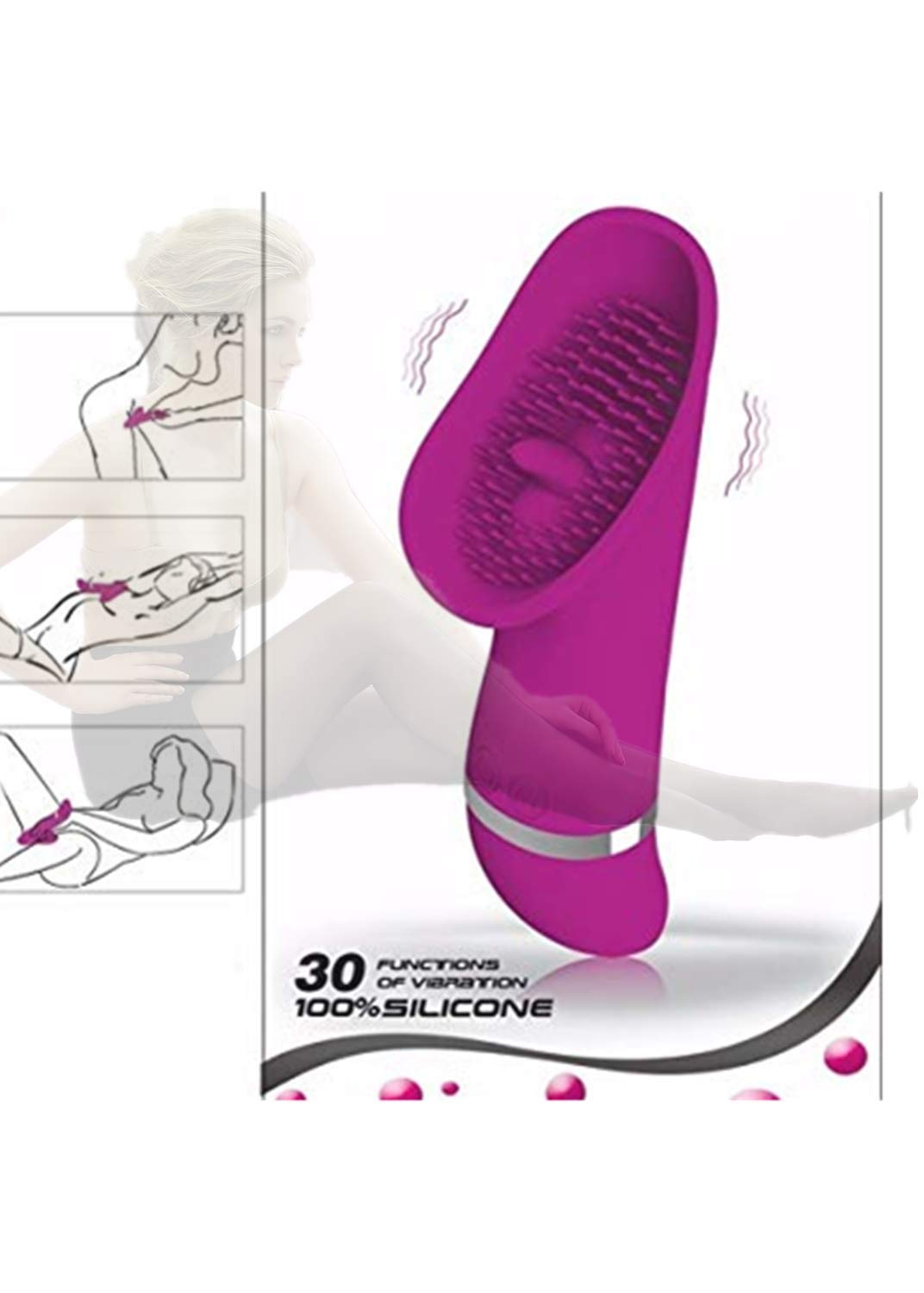 Female Clitoral Massager Stimulating Orgasm Simulates Tongue Licking to Improve Female Desire and Couple's Flirting