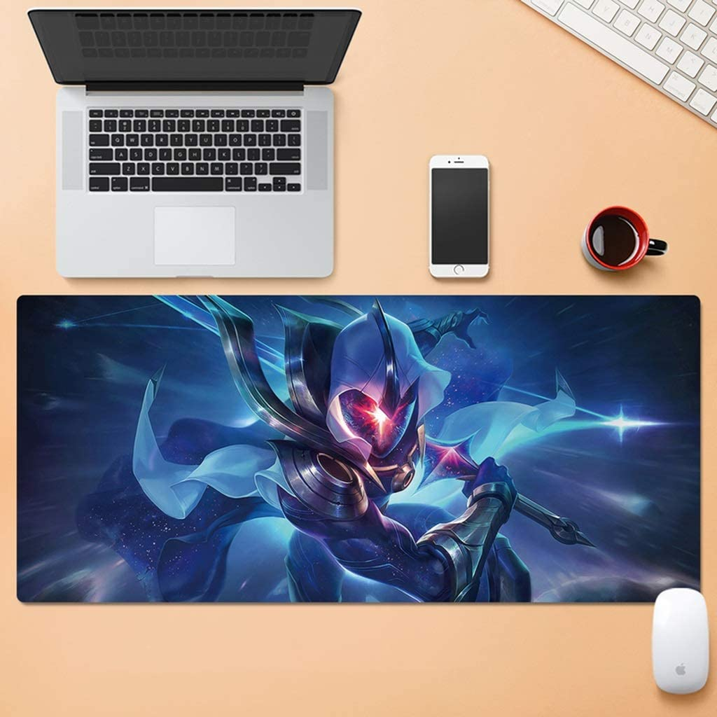 HMMSP Multifunction Water-Resistant Esports Gaming Mouse Mat Large Non-Slip Expansion Gaming Mouse Pad Wear Resistant Rubber Base Stitched Edges 30x80cm Color : A, Size : 4mm