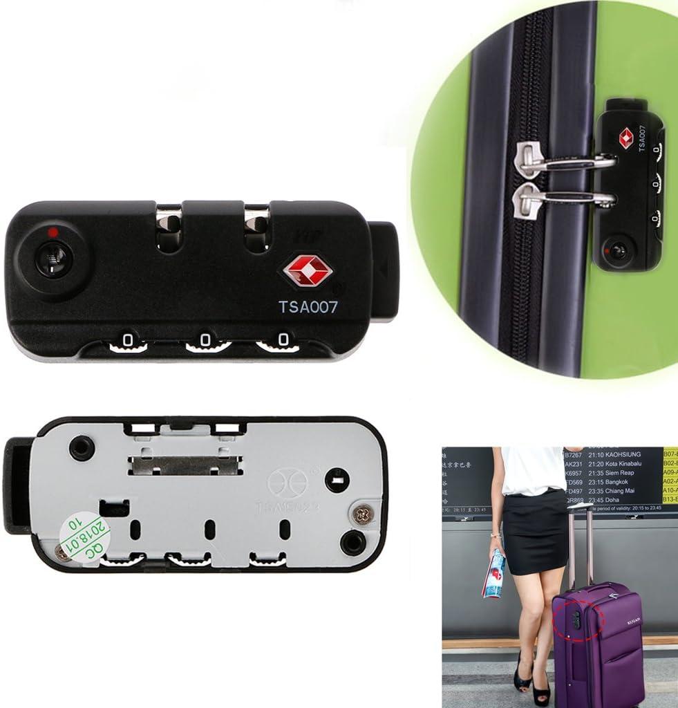 Meiqqqm TSA Secure Cadenas /à Combinaison /à 3 Chiffres pour Valise