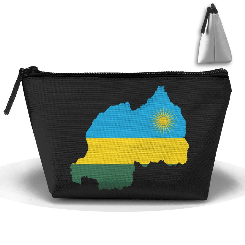 57249a8bfd high-quality RobotDayUpUP Rwanda Flag Map Womens Travel Cosmetic Bag  Portable Toiletry Brush Storage Print