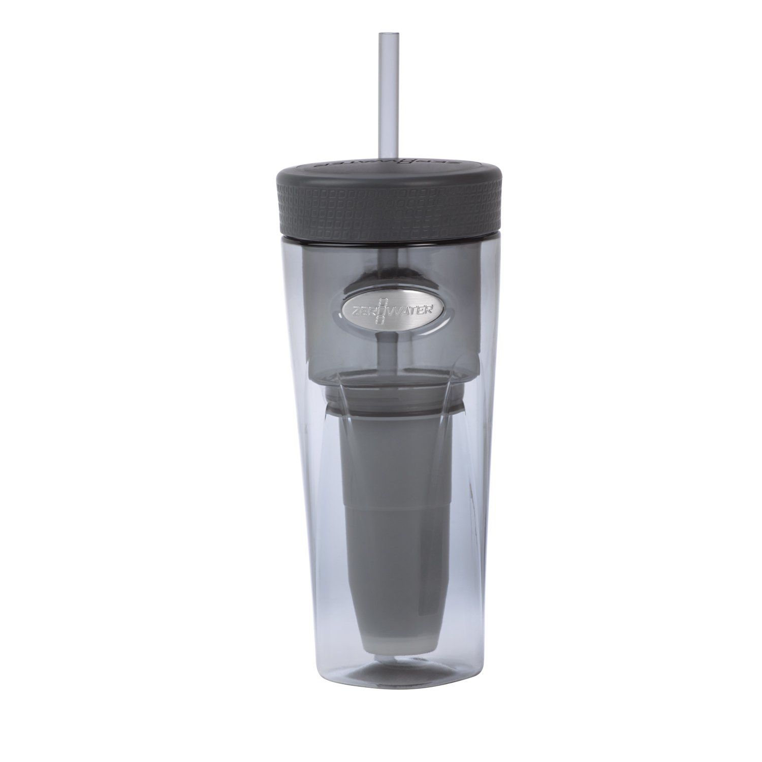 ZeroWater ZT-026Si, On-The-Go 26 Ounce Water Filter Tumbler, Silver by ZeroWater