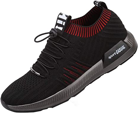LuckyGirls Hombre Zapatillas de Correr Casual Ocio Calzado de Deporte Transpirables Zapatos Deportivos con Cordones Moda Bambas de Running: Amazon.es: Deportes y aire libre