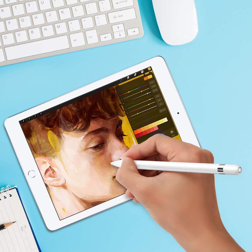 ACOCOBUY Compatible avec Apple Pencil Capuchon iPencil Cap iPencil Capuchon Magn/étique pour iPad Pro 9,7 10,5 12,9 Pouces Blanc