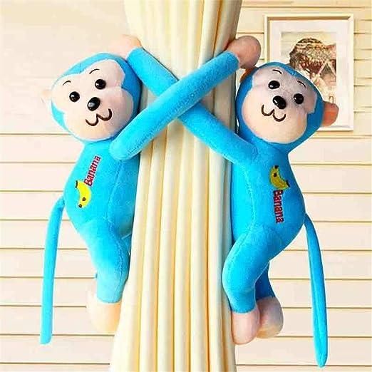 AXJa 1 par de corbatas de cortina para niños Creativo lindo mono ...
