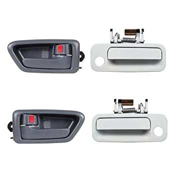Set Of 2pcs White Outer Front LH RH Side Door Handle For 1997-2001 TOYOTA CAMRY