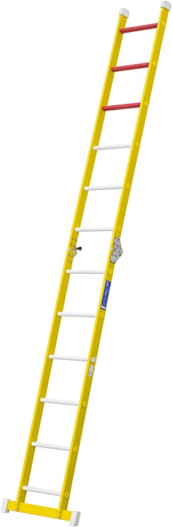 Escalera aislante de un tramo plegable. Permite su uso como escalera de un tramo o escalera de tijera, fabricada en fibra de vidrio. Según norma UNE-EN 131 (10 peldaños): Amazon.es: Bricolaje y