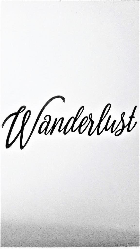 "Wanderlust Travel Explore Adventure Vinyl Decal Sticker Black Cars Trucks Vans SUV Laptops Wall Art 7.5"" X 3"" CGS607"
