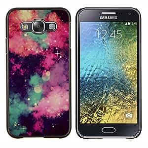 EJOOY---Cubierta de la caja de protección para la piel dura ** Samsung Galaxy E5 E500 ** --cielo estrellas universo nubes majestuosa noche