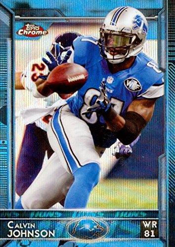 4a1611cf Calvin Johnson football card (Detroit Lions) 2015 Topps Chrome Blue ...