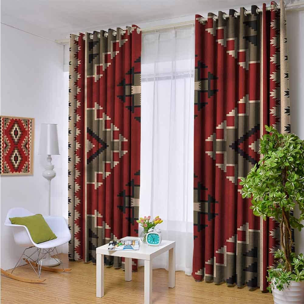 Afghan Room Darkening Blackout Drapes Afghan Style Motifs Blackout Curtains Panels For Bedroom W72 X L45 Inch Amazon Co Uk Kitchen Home