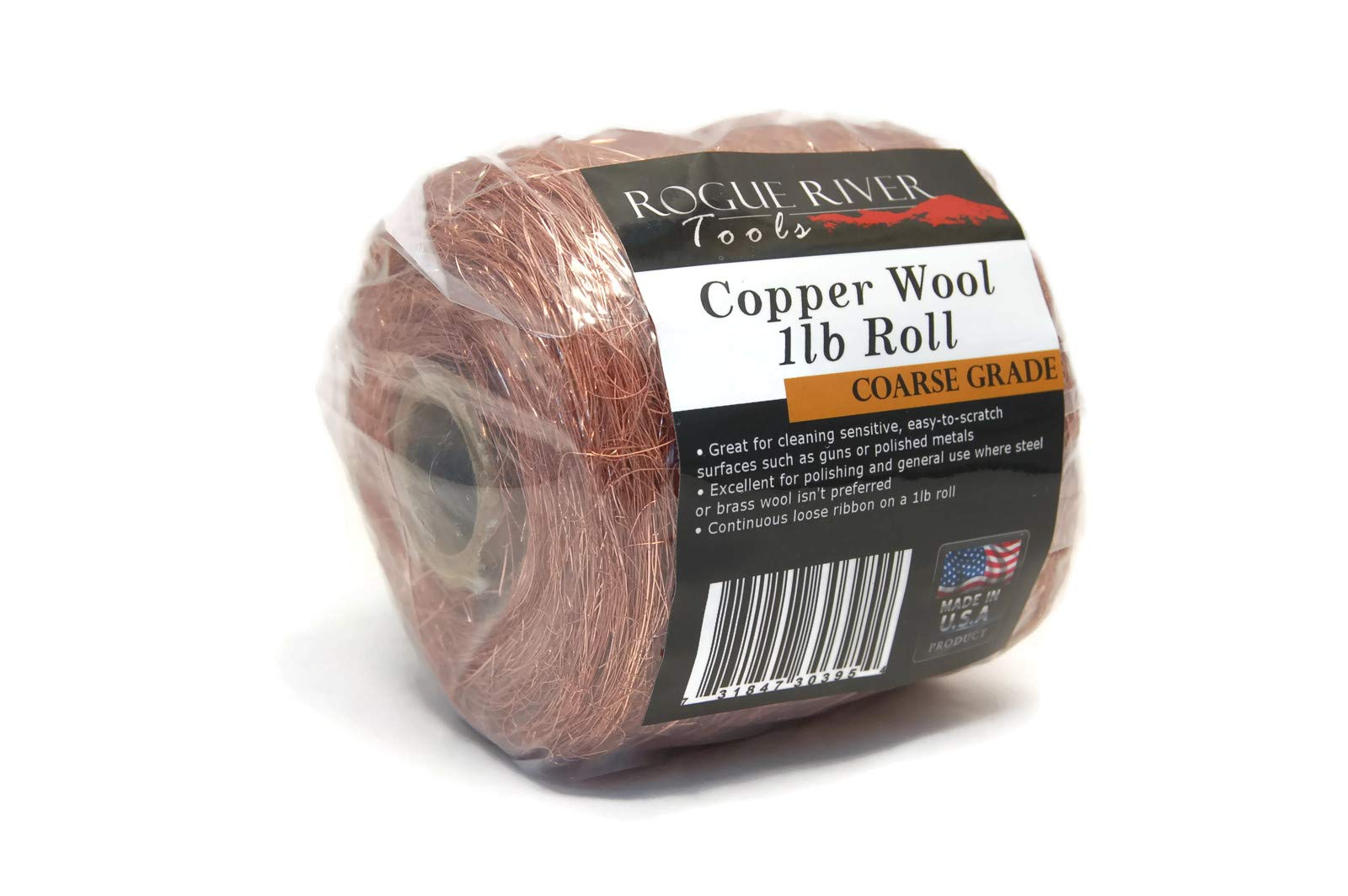 Copper Wool 1lb Roll (Coarse) - Made in USA! by Rogue River Tools