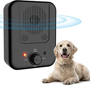 ULTPEAK Dog Barking Control Device, New Barking Device USB Rechargeable Sonic Barking Silencer Dog Bark Deterrent 10 Meters Effective, Safe for Small Medium and Large Dogs