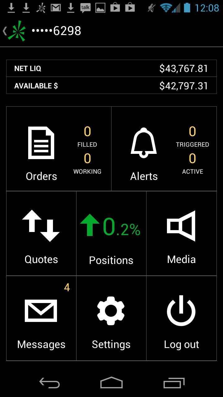 TD Ameritrade Mobile Trader - com devexperts tdmobile platform