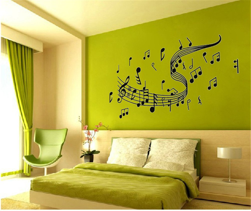 Old Fashioned Music Notes Wall Decor Illustration - All About ...