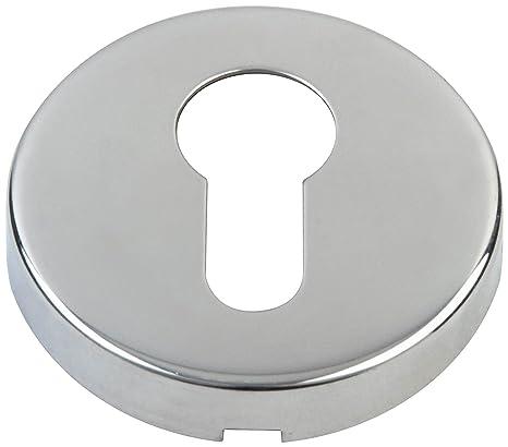 Doorfittings4u - Juego de embellecedor para cerradura de tipo europeo, acero inoxidable pulido