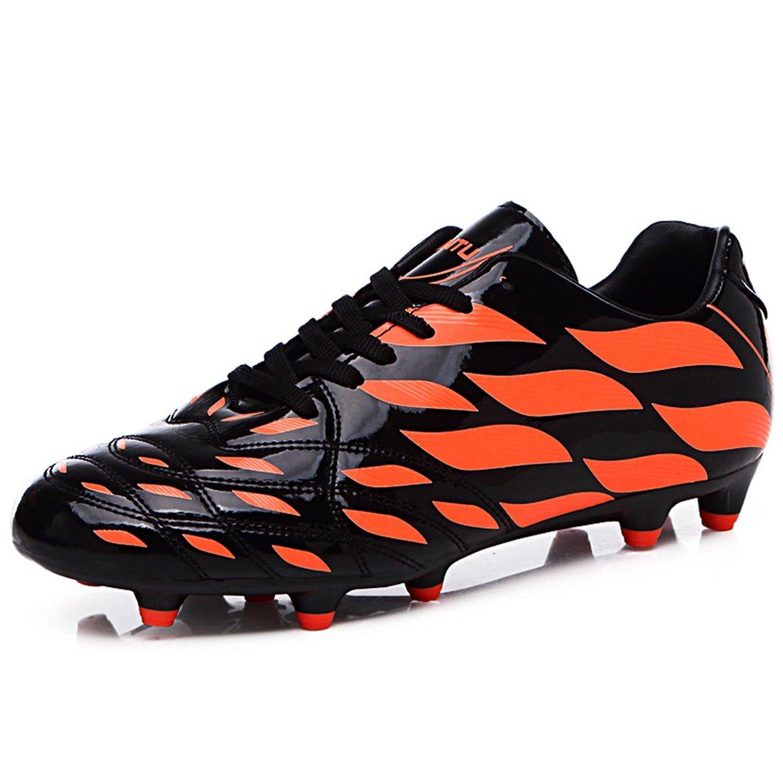 DANDANJIE Männer Fußball Schuhe Jugend Spikes Niedrig-Top Tragbare Trainingsschuhe Rutschfeste Trainingsschuhe Student Turnschuhe (35-44)