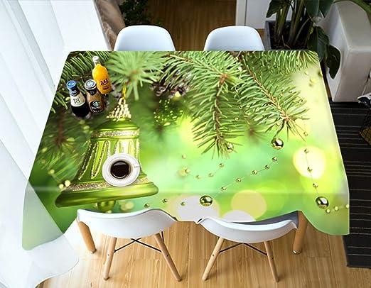 S-vision Manteles Campana De Navidad Verde Cocina Mesa De Comedor ...
