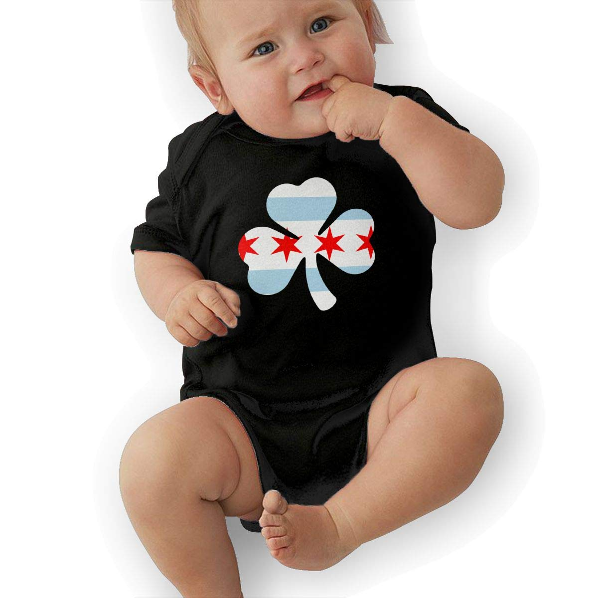 Suit 6-24 Months TAOHJS97 Baby Girls Chicago Flag Shamrock Short Sleeve Climbing Clothes Playsuit