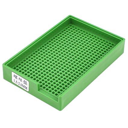 Antiestáticos bandeja de plástico titular verdes 459 agujeros para tornillos de 1.5 mm-2.0 mm