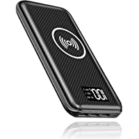 Portable Charger Power Bank,KEDRON 24000mAh Wireless Charger with LED Digital Display and 3 Outputs & Dual Inputs External Battery Pack for Cellphone,Android Smartphones,Tablet and More (Black)